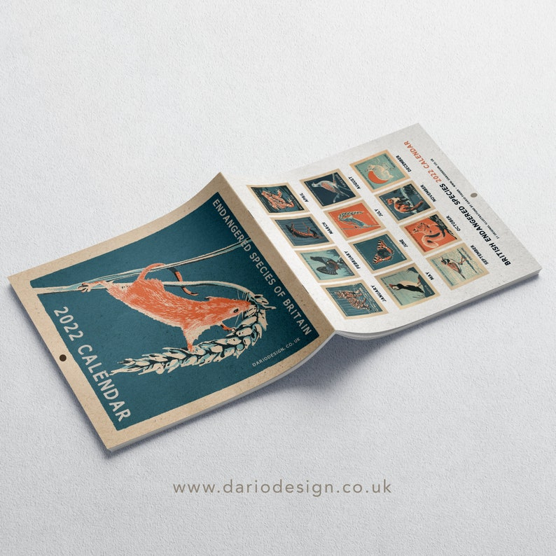 2022 Calendar  British Endangered Species. 31 Original image 0