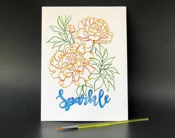 Sparkle Flower - Paint Kit