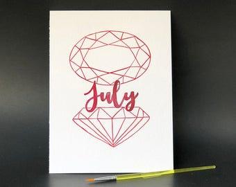 July Birthstone - Paint Kit