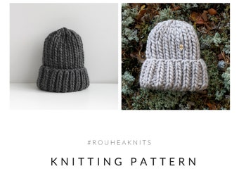 f5b072c629a Knitting pattern  ROUHEA Chunky Beanie    Chunky beanie knitting pattern