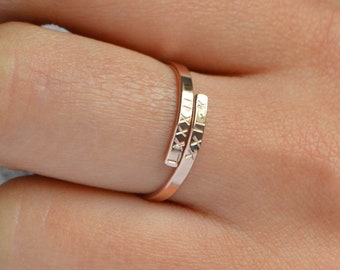 bb4b4eb09f6373 SONYA Personalized Name Ring Gift, Custom Gift For Her, Dainty Hug Ring,  Bridesmaid Gift, Sisters Gift,Best Friend Gift, Custom Initial Ring