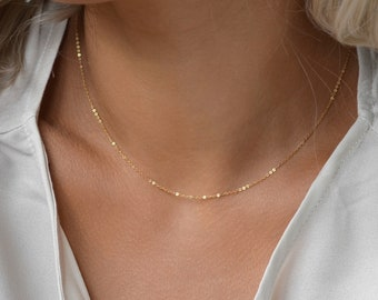 SHAY 14K Gold Filled • Rose Gold Fill • Sterling Silver • Dainty Chain Necklace • Simple Everyday Necklace•Layering Chains•Delicate Necklace