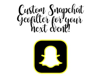 Custom Geofilter for Snapchat - Make a Custom Snapchat filter - Personalized & Customized Filter for Snapchat - Create Design with Shop