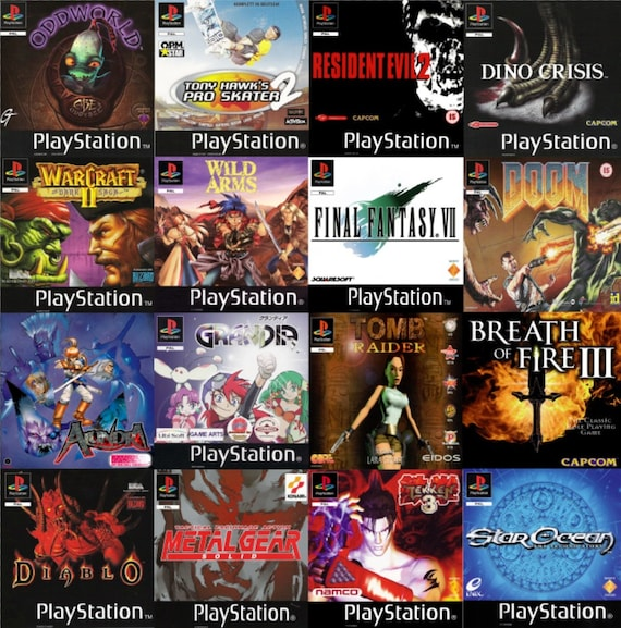 Jewel Playstation One Psx Ps1 Custom Replicated Game Covers Etsy