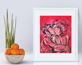 Comfort - Valentines Art Print, Valentines Gift, Gift for Her, Love Print,  Best Friends, Unframed, Romantic Gift,  Art and collectibles,