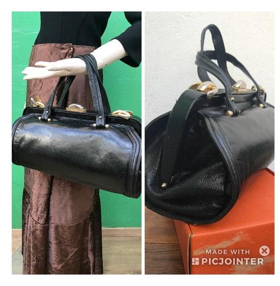 DOCTOR BLACK LEATHER handbag Fashion leather handb