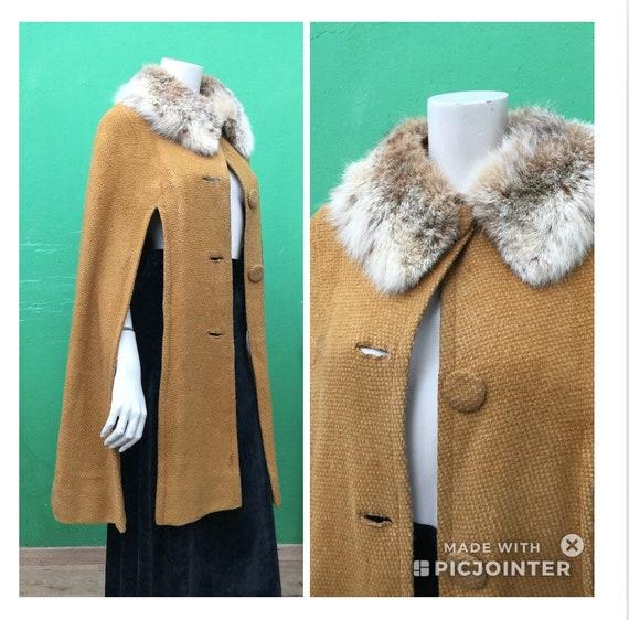 Wool cape | 60s WOOL VINTAGE CAPE | Fashion wool c