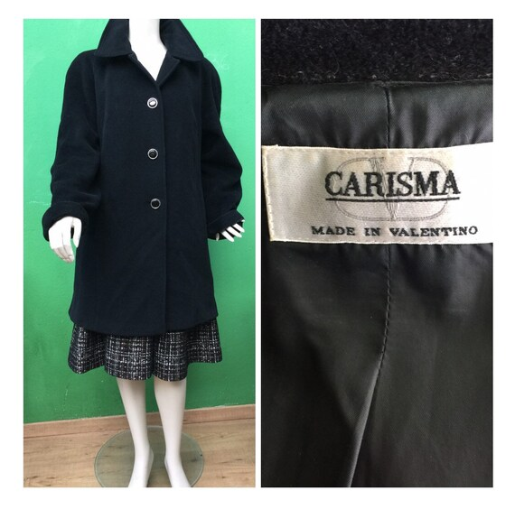 VALENTINO WOOL BLACK Coat Vintage Valentino Vintag