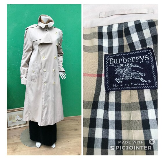 70s BURBERRY TRENCH | Vintage Burberry trench coat
