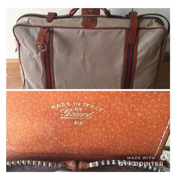 VINTAGE GUCCI SUITCASE | 70s Gucci suitcase|