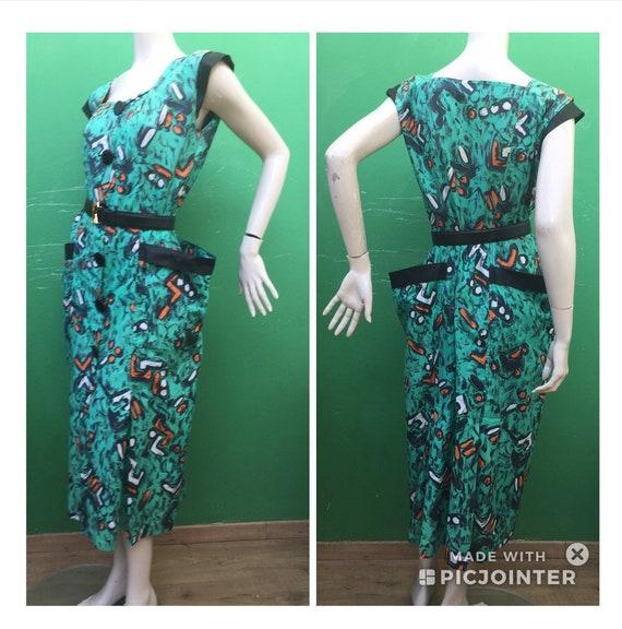 COTTON ASTRATTO DESIGN Dress Fashion cotton dress