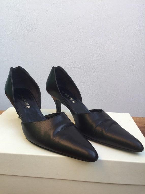 LOEWE LEATHER SHOES Vintage leather shoes Black l… - image 5