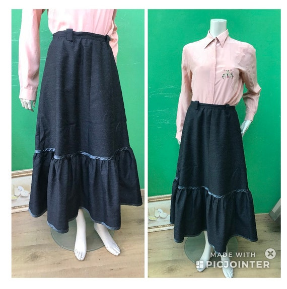 A/1 TAILORING WOOL Long SKIRT   Long skirt with fl