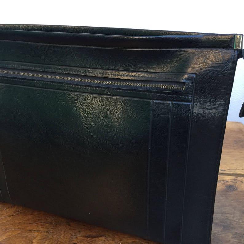VEGAN FOLDER Bag Vintage folder Vintage Briefcase Made in Italy | Large Folder Made in Italy Vintage Bag