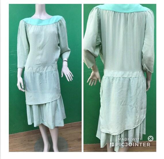 STRIPED SILK DRESS| Aspesi Vintage Dress | Fashion