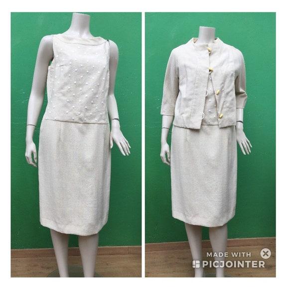 30s VINTAGE EMBROIDERY SET Cotton Vintage dress Sa
