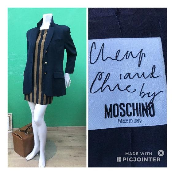 MOSCHINO WOOL JACKET |  90s Moschino Navy Jacket |