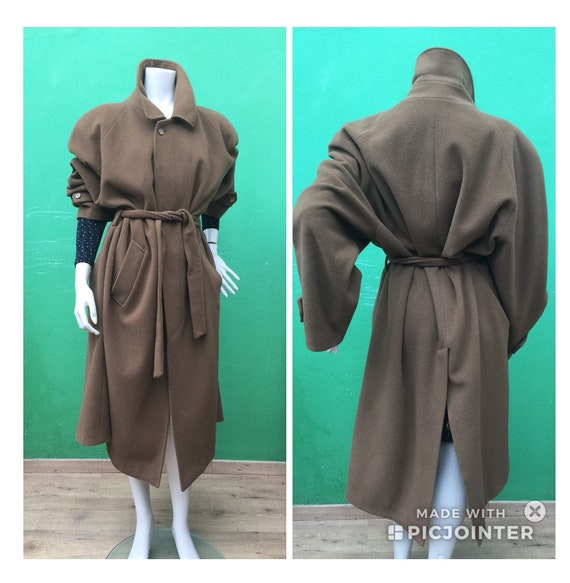 Camel CACHEMIRE Coat VINTAGE Camel COAT| Unisex Ca