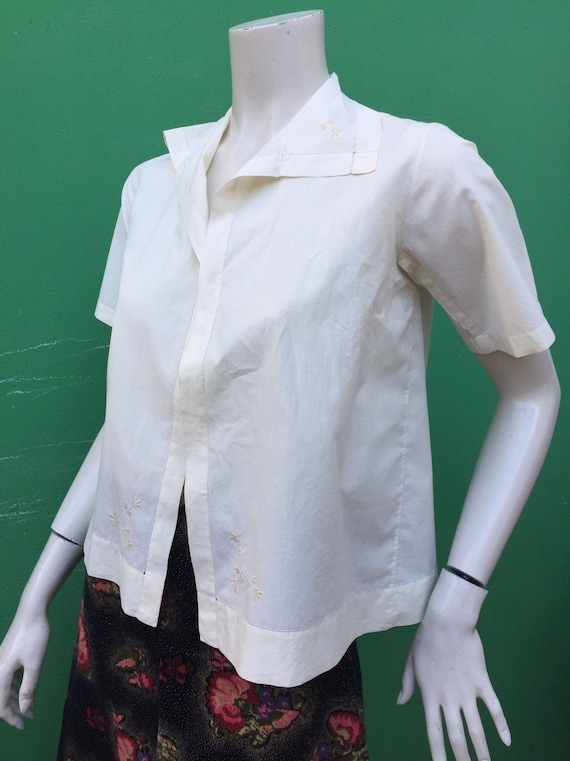 ANCIEN COTTON SHIRT Handmade shirt 40s embroidered