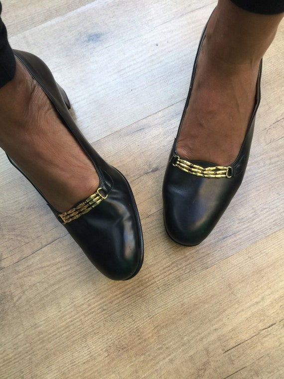 A/1 Black loafers Deadstock LEATHER HANDMADE LOAFE