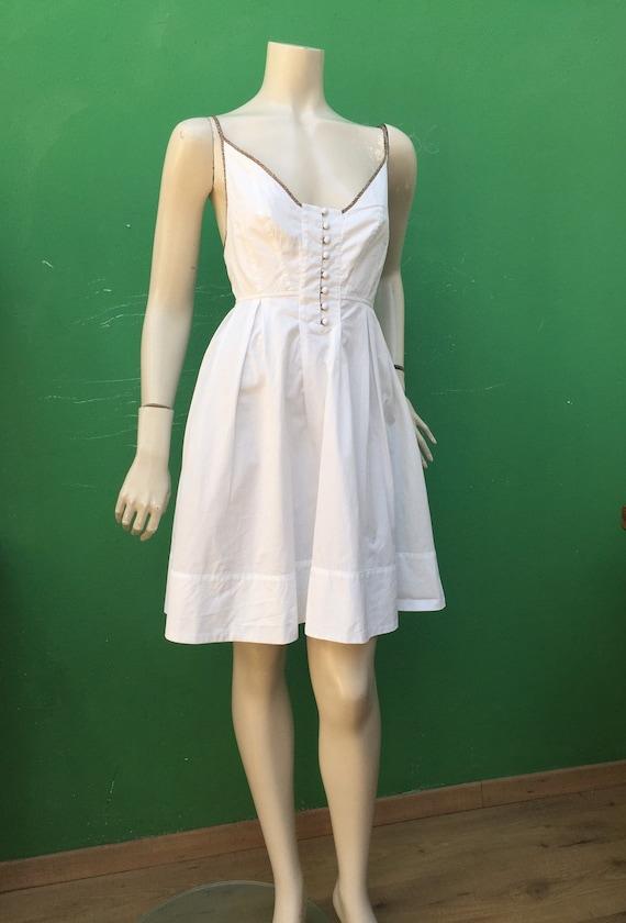 BORBONESE WHITE COTTON Dress Fashion cotton Borbo… - image 7