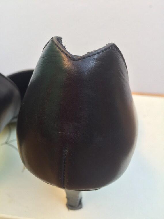 LOEWE LEATHER SHOES Vintage leather shoes Black l… - image 7