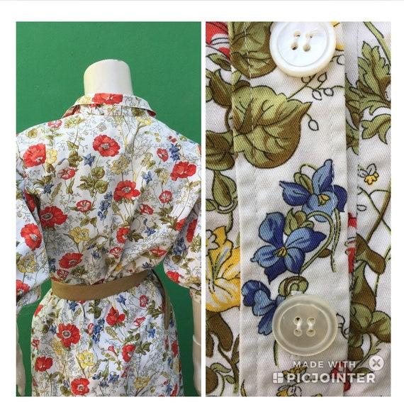 Cotton FLORAL DRESS Tailoring Tailoring cotton dr… - image 7