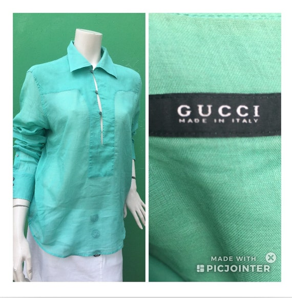 GUCCI COTTON SHIRT Gucci fashion cotton t-shirt Gr