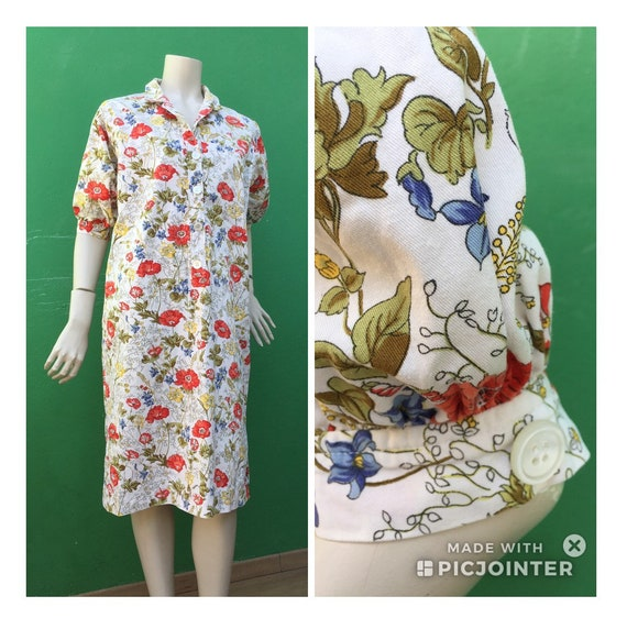 Cotton FLORAL DRESS Tailoring Tailoring cotton dr… - image 2