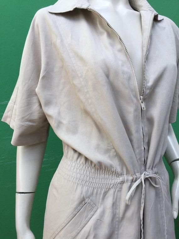 SAFARI COTTON DRESS   Marina Rinaldi Vintage Safar