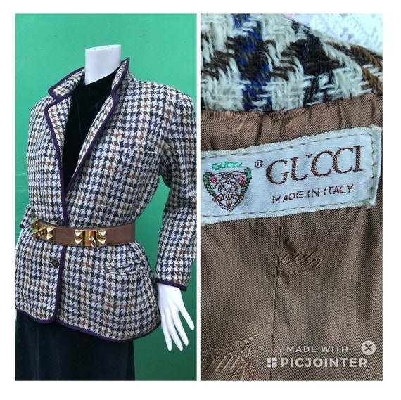 GUCCI CHECKERED JACKET | Gucci vintage striped jac