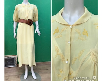 ANCIENT SILK NIGHTGOWN   Handmade embroidered nightgown   Silk fashion dress   Antique handmade dress
