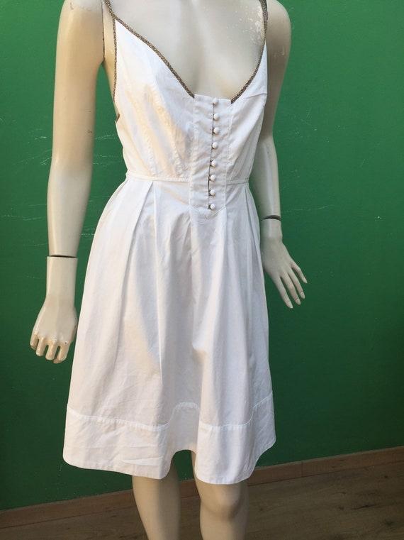 BORBONESE WHITE COTTON Dress Fashion cotton Borbo… - image 9