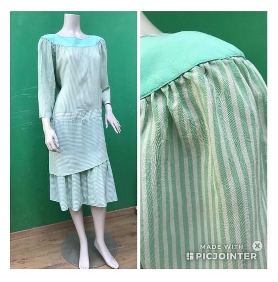 ASPESI STRIPED SILK Vintage Dress Fashion Silk dre