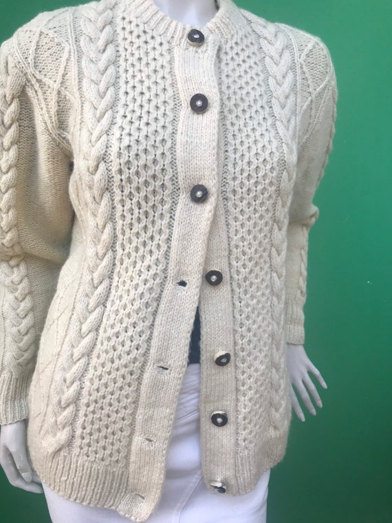 WOOL TYROLEAN CARDIGAN Handmade sweater | Handmade