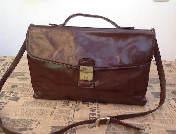 Messager men leather bag Luxury Rare SATCHEL ASTOR