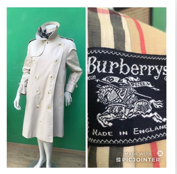 BURBERRY VINTAGE TRENCH COAT Double breasted tren… - image 1