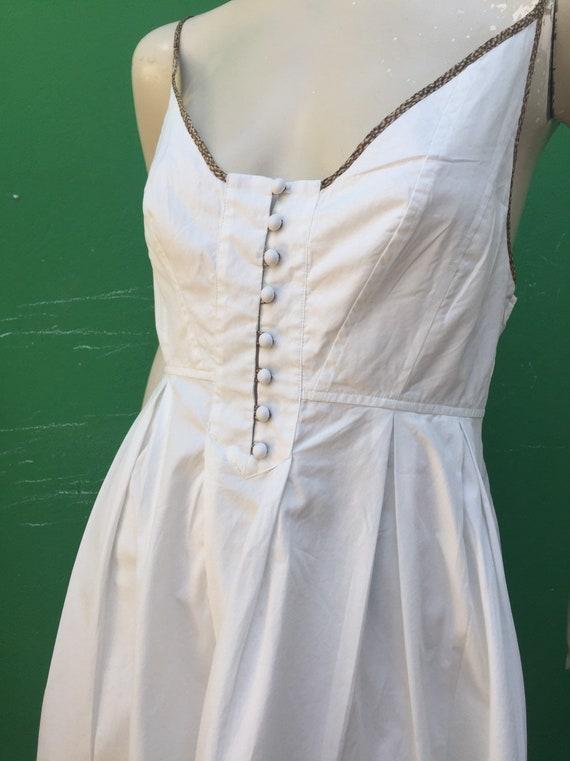 BORBONESE WHITE COTTON Dress Fashion cotton Borbo… - image 2