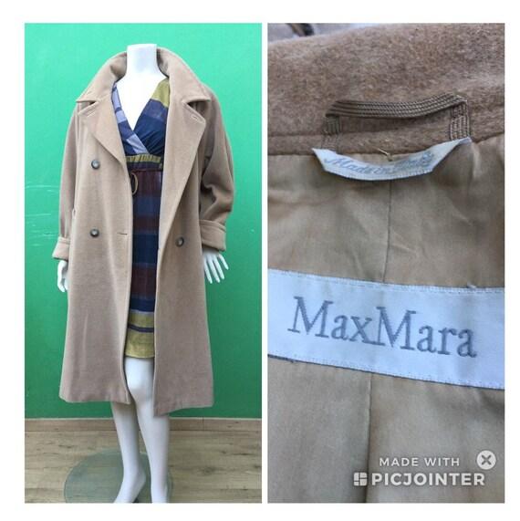MAX MARA VINTAGE Coat Camel wool coat 90s new wool