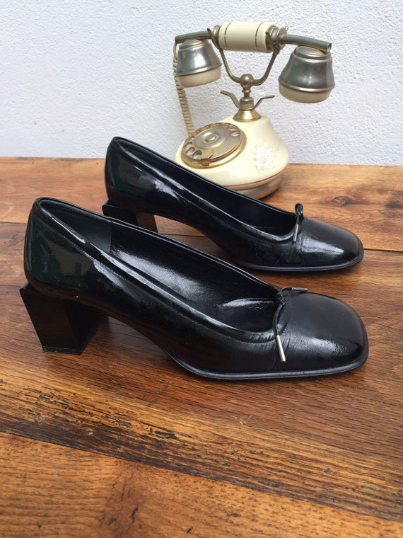 90s CALVIN KLEIN Patent SHOES Deadstock Patent Cal