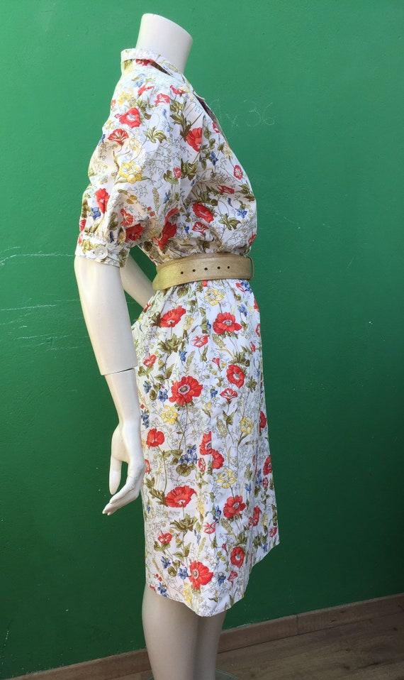 Cotton FLORAL DRESS Tailoring Tailoring cotton dr… - image 6