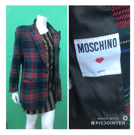 WOOL JACKET MOSCHINO Moschino Plaid Jacket Classic