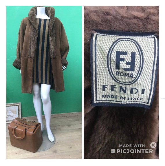FENDI GIACCONE   Fendi Brown Sherling   Vintage Sh
