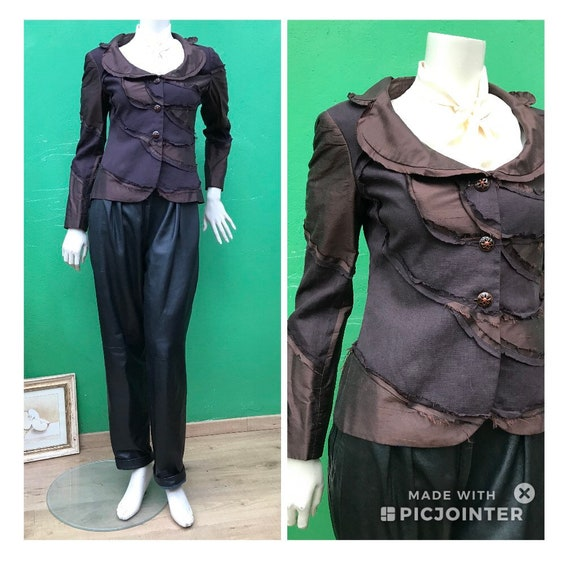 MOSCHINO JACKET | Silk Jacket |Made in Italy |90s