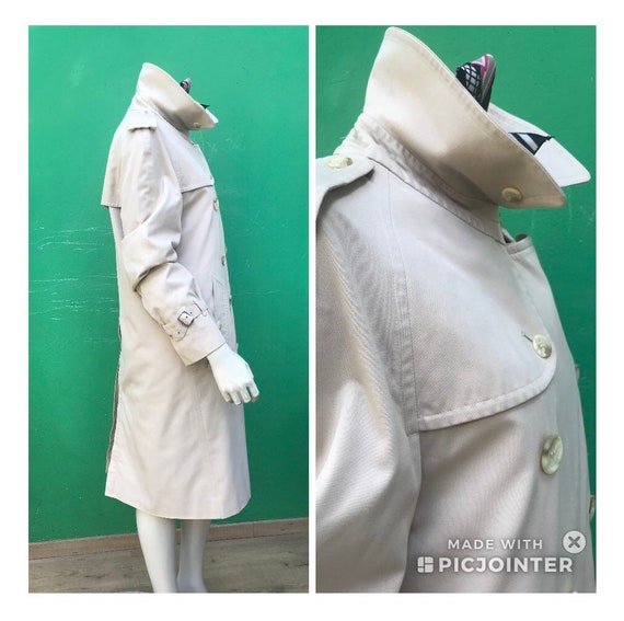 BURBERRY VINTAGE TRENCH COAT Double breasted tren… - image 3