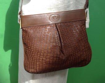 Made in Italy   90s Vintage Bag   Suede Shoulderbag   Leather Bag   Vintage Made in Italy   Flavian Bismano Handbags   Vintage Bag   Brown Bag