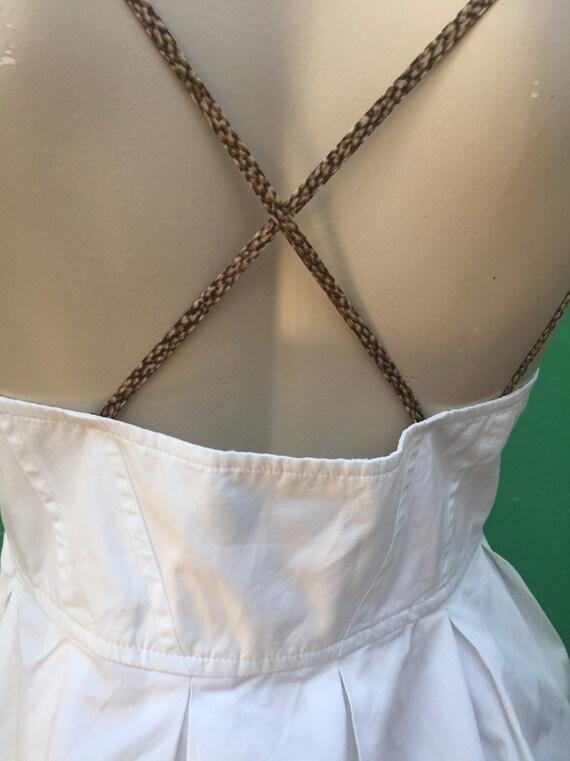 BORBONESE WHITE COTTON Dress Fashion cotton Borbo… - image 8