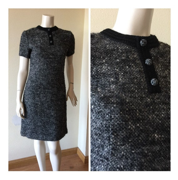 VINTAGE MOD DRESS 70s mini dress Vintage dress woo