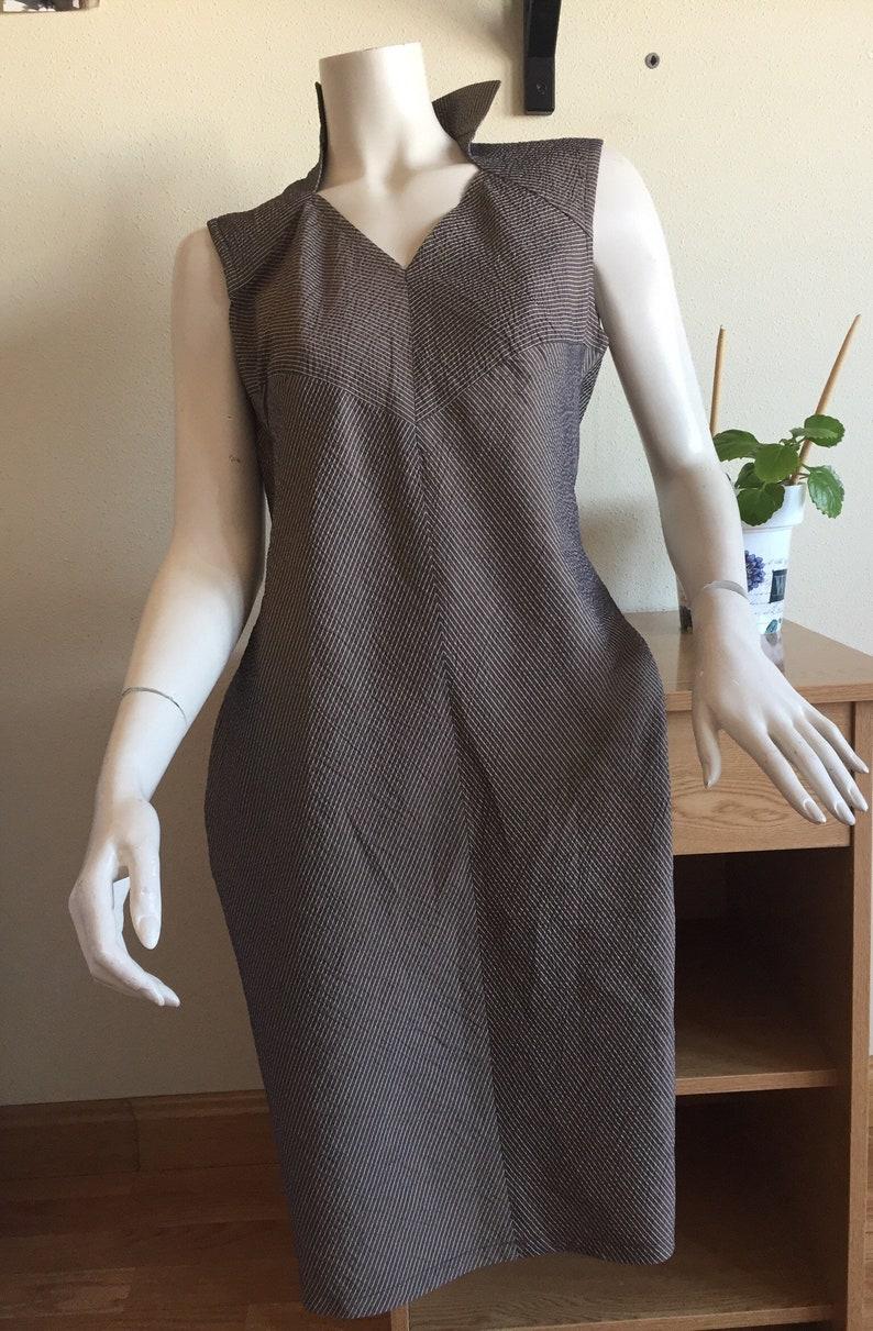 db569933e0e STRIPED DRESS Made in Italy Striped Dress 80s Dress