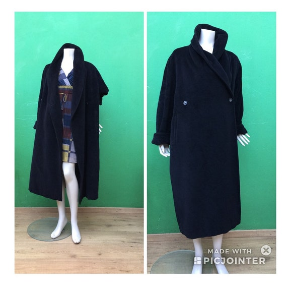 MAX MARA CASCHEMIRE Black Coat | Oversize Max Mara